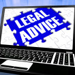 Stock Photo: Legal Advice On Laptop Showing Legal Assistance