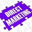 Direct Marketing Shows Targeting Clients — Stock Photo