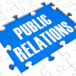 Public Relations Puzzle Shows Publicity And Press — Stock Photo