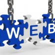 Stock Photo: Web Shows Online Websites Or Internet