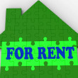 For Rent House Shows Rental Estate Agents — Stock Photo