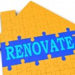 Renovate House Shows Improve And Construct — Foto de stock #16638587