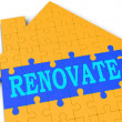 Foto de Stock  : Renovate House Shows Improve And Construct