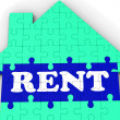 Rent House Shows Rental Property Agents — Stock Photo