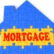 Stock Photo: Mortgage House Shows Home Purchase Loan