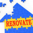 Renovate House Means Improve And Construct — 图库照片 #16638623