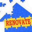 Renovate House Means Improve And Construct — Stock Photo