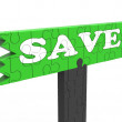 Stock Photo: Save Means Discount Reduction Or Promotion