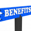Stock Photo: Benefits Shows Bonus Perks Or Rewards