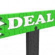 Stock Photo: Deal Means Bargain Promotion Or Agreement