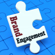 Brand Engagement Means Engage With Branded Product — Stockfoto