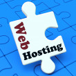 Постер, плакат: Web Hosting Shows Website Domain