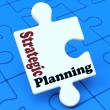 Strategic Planning Shows Business Solutions Or Goals — Stock Photo