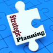 Stock Photo: Strategic Planning Shows Business Solutions Or Goals