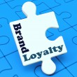 Brand Loyalty Shows Customer Confidence Preferred Brand name — Stock Photo