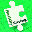 Постер, плакат: Healthy Eating Means Fresh Nutritious Eating