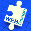 Web Design Shows Online Graphic Designing — Stock Photo