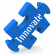 Innovate Shows Innovative Design Creativity Vision — Stock Photo