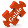 Stock Photo: Guide Word Means Guidance Or Training