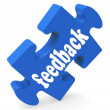 Feedback Means Opinion Comment Surveys — Stock Photo