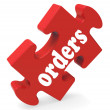 Orders Means Sales And Purchases — Stock Photo