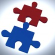 Jigsaw Pieces Shows Teamwork Concept — Stock Photo #16638859