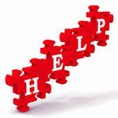 Help Puzzle Shows Support And Advisory — Stock Photo