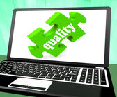 Quality On Laptop Shows Website Superiority — Stock Photo