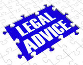 Legal Advice Puzzle Showing Attorney Counseling — Stock Photo