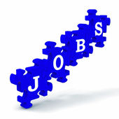 Jobs Means Work Profession Employment And Vocation — Stock Photo