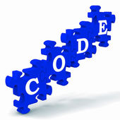 Code Puzzle Showing Codification Or Encoding — Stock Photo