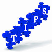 Tips Puzzle Showing Tricks And Hints — Stock Photo
