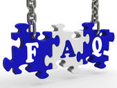 FAQ Means Frequently Asked Questions — Stock Photo