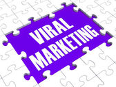 Viral Marketing Showing Advertising Strategies — Stock Photo