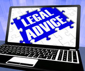 Legal Advice On Laptop Shows Legal Consultation — Stock Photo