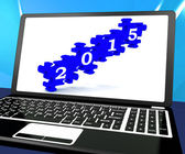 2015 On Laptop Shows Future Festivities — Stock Photo