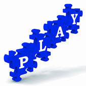Play Puzzle Shows Kindergarten Playtime — Stock Photo