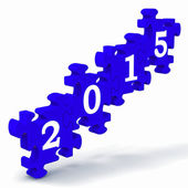 2015 Puzzle Shows Annual Resolutions — Stock Photo