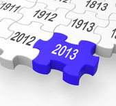 2013 Puzzle Piece Showing Near Future — Stock Photo