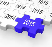 2015 Puzzle Piece Shows New Year's Festivities — Stock Photo