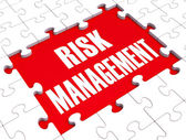 Risk Management Shows Identifying And Evaluate — Stock Photo