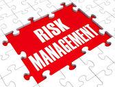 Risk management zeigt identifizieren und bewerten — Stockfoto
