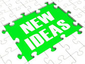 New Ideas Puzzle Showing Innovation — Stock Photo