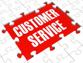 Customer Service Puzzle Showing Support And Assistance — Stock Photo