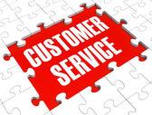 Puzzle de servicio al cliente mostrando apoyo y asistencia — Foto de Stock