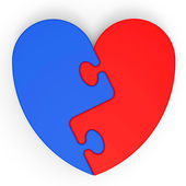 Two-Colored Heart Showing Love Complement — Stock Photo