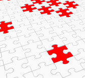 Unfinished Puzzle Shows Gaps And Holes — Stock Photo