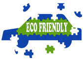 Eco Friendly Car Means Environmentally Clean Automobile — Stock Photo