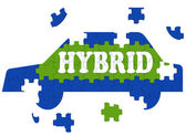 Hybrid Car Means Electric Eco-friendly Automobile — Stock Photo