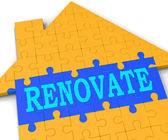 Renovate House Shows Improve And Construct — Stock Photo